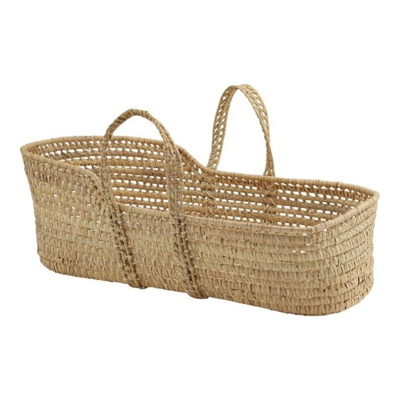 Palm Leaf Basket Bonet et Bonet Yellow Flamingo
