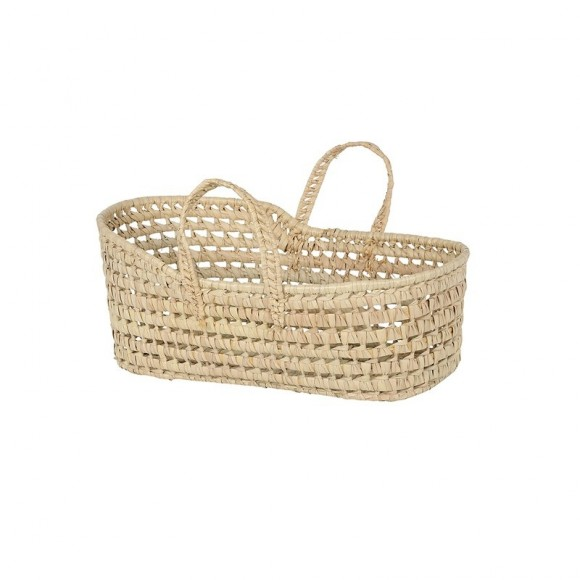 Palm leaf doll basket Bonet et Bonet