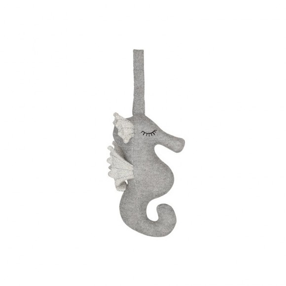 Mobile musical hippocampe gris