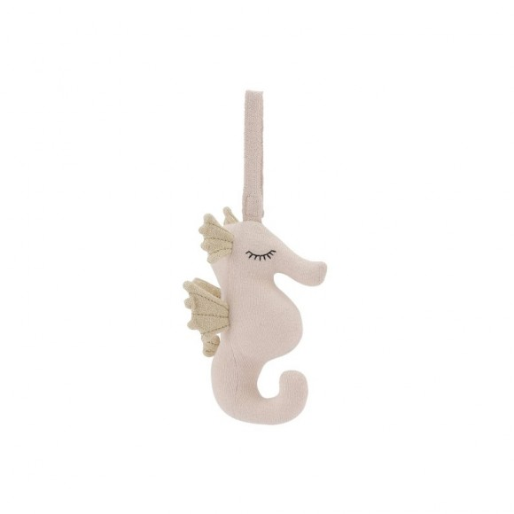 Mobile musical hippocampe rose