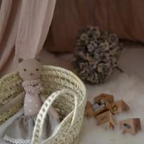 Couffin pour poupée en feuilles de palmier Bonet et Bonet
