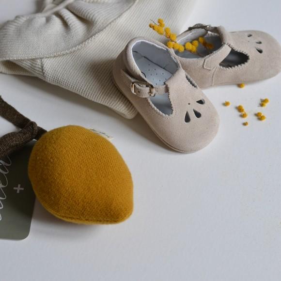 Chaussures Pépins Daim Craie Caminito Yellow Flamingo