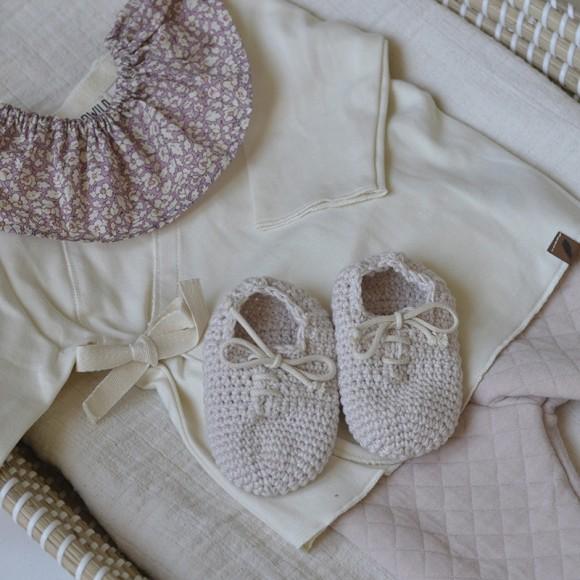 Cache-coeur en coton GOTS Vanille Kidwild Yellow Flamingo