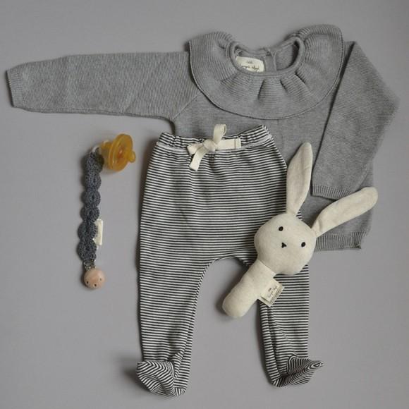 Fiol collar knit blouse grey melange Konges Slojd