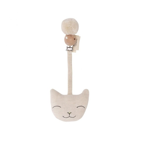 Clip cat off white melange Konges Slojd