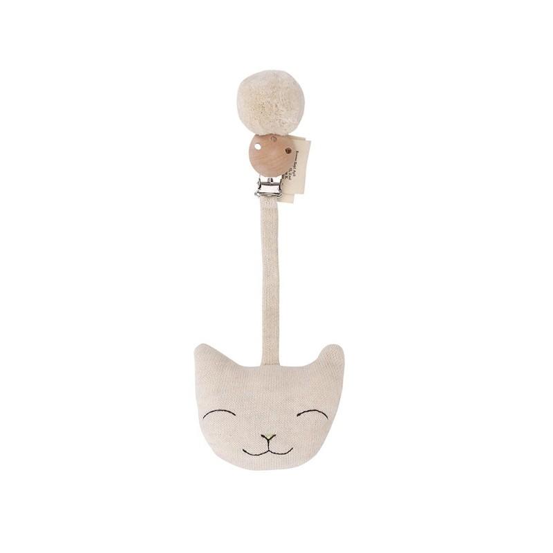 Jouet d'éveil chat crème Konges Slojd