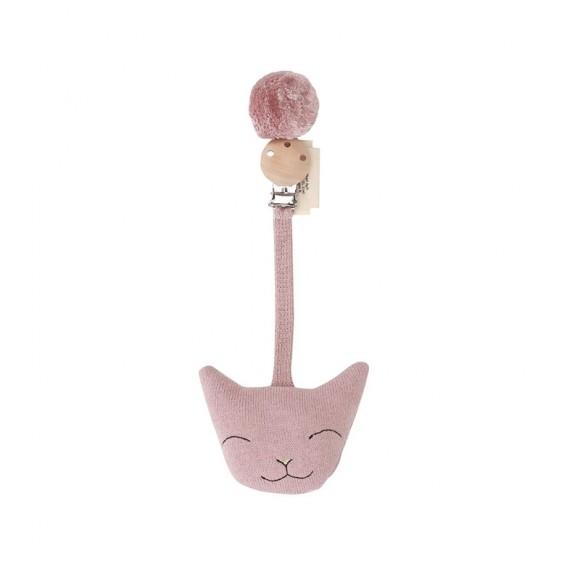 Jouet d'éveil chat rose Konges Slojd