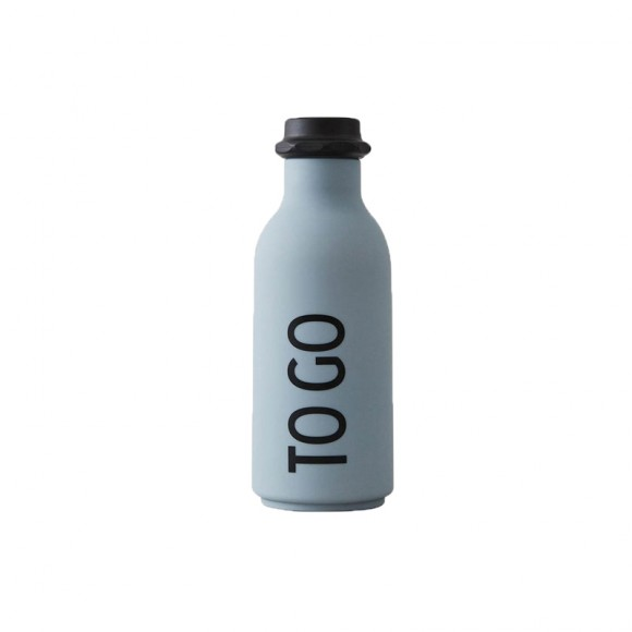 To Go drinking bottle grey Design Letters