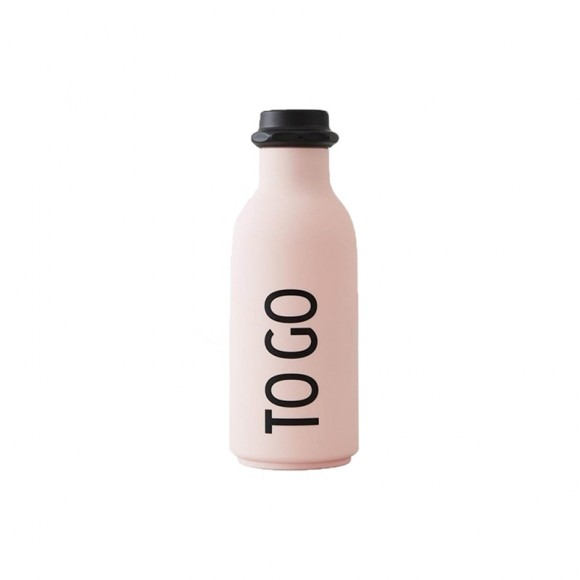 To Go drinking bottle pink Design Letters