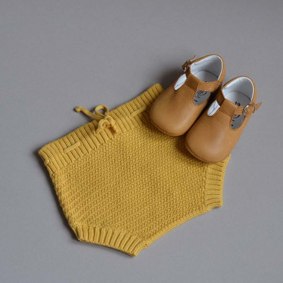 Bloomer maille jaune safran My Little Cozmo