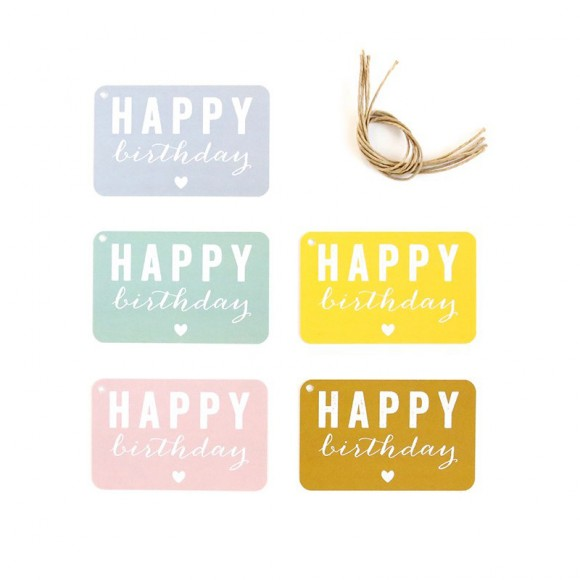 Gift Tags Happy Birthday