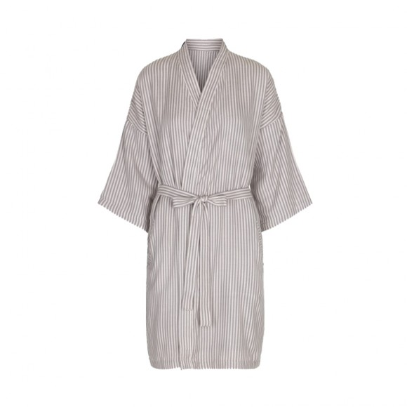Muslin mommy robe striped
