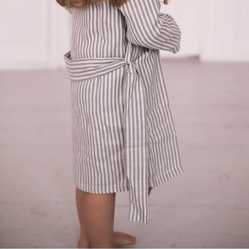 148f63d3 Kids muslin bathrobe stiped Konges Slojd - Yellow Flamingo