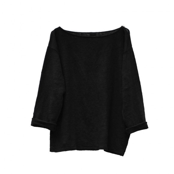 T-shirt lin Heliolin black sand Le Petit Germain