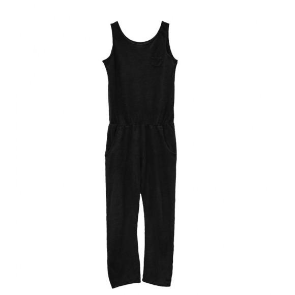 Combichino jumpsuit black sand Le Petit Germain