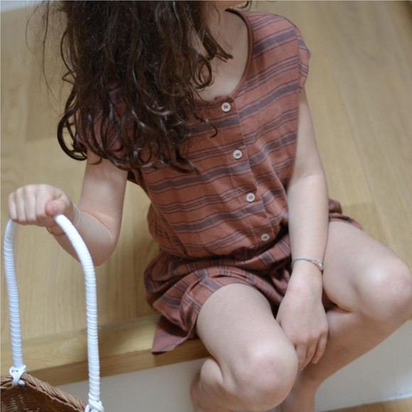 Annie culottes romper blush Le Petit Germain