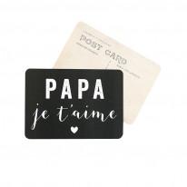 "Carte Postale ""PAPA JE T'AIME"" Cinq Mai"