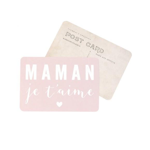"Carte Postale ""MAMAN JE T'AIME"" Cinq Mai"