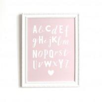 Affiche Alphabet rose Cinq Mai