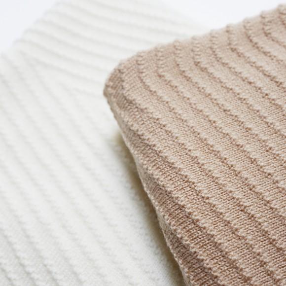 Wool Blanket Akira apricot Hvid