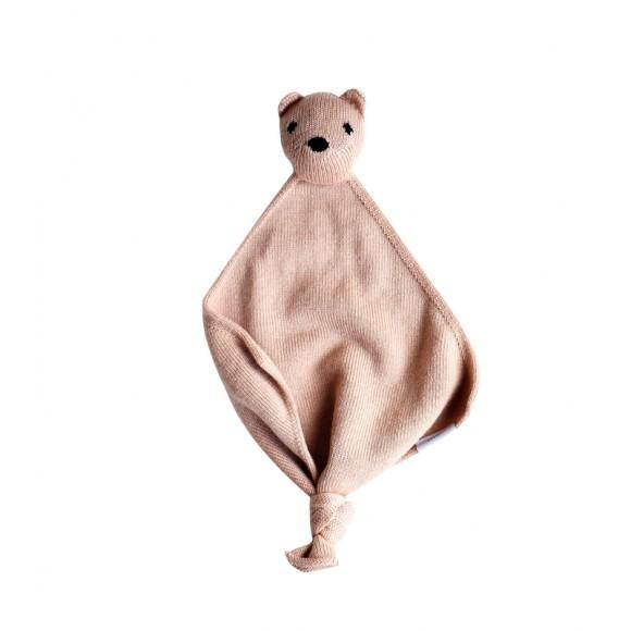 Doudou en laine Teddy tokki blush