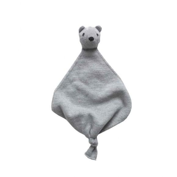 Doudou en laine Teddy tokki gris Hvid