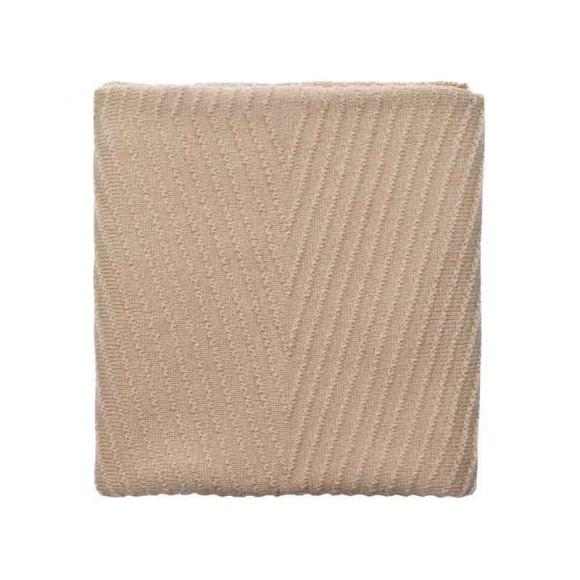 Couverture en laine Akira abricot Hvid