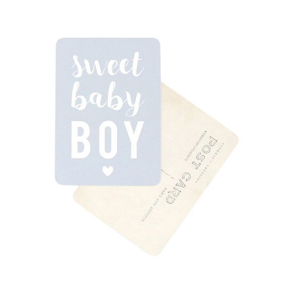 "Postcard ""SWEET LITTLE BOY"" Cinq Mai"