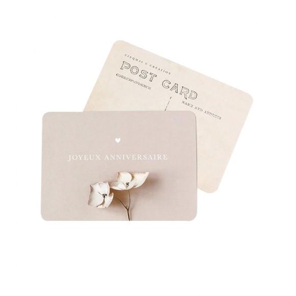 """Carte Postale """"JOYEUX ANNIVERSAIRE"""" - Cinq Mai"""