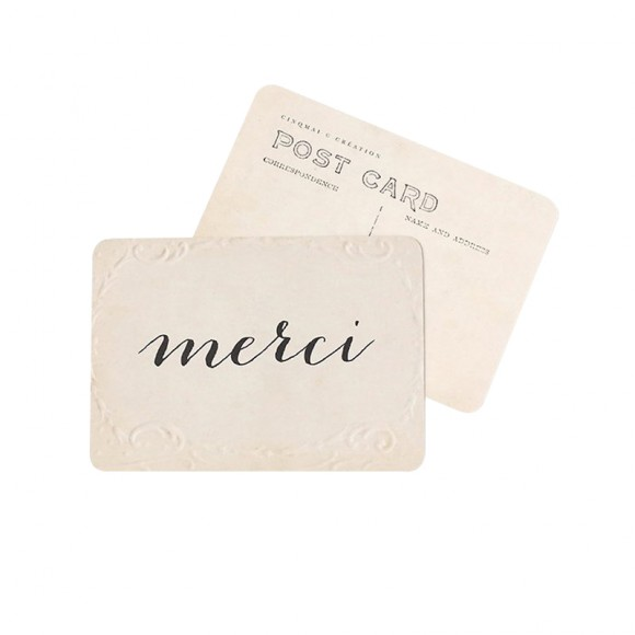 "Postcard ""MERCI"" (THANK YOU) - Cinq Mai"