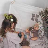 Habillage maison de poupée Loullou
