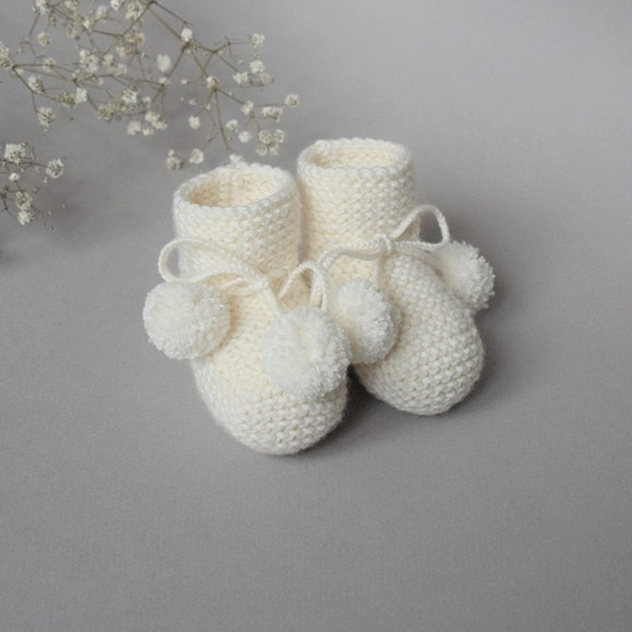 Bootee Agathe cream Jacotte Tricote