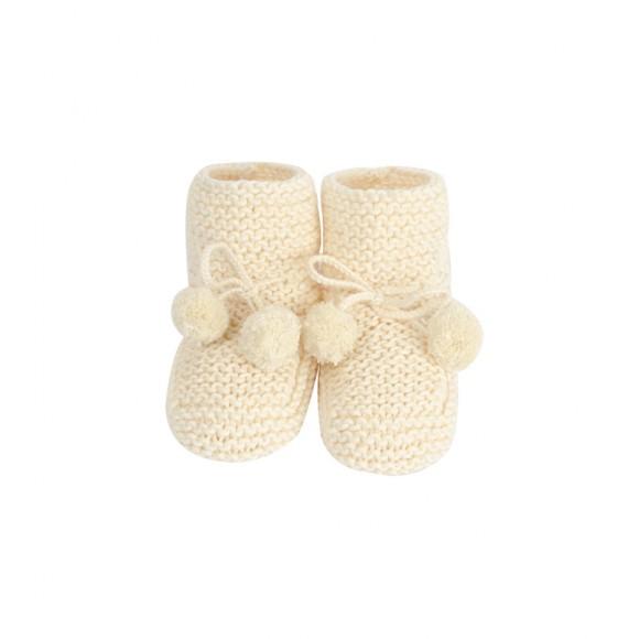 Chaussons Agathe crème Jacotte Tricote