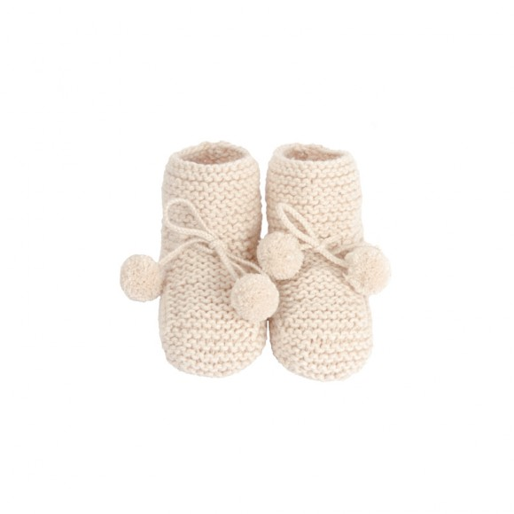 Bootee Agathe Powdery Pink Jacotte Tricote