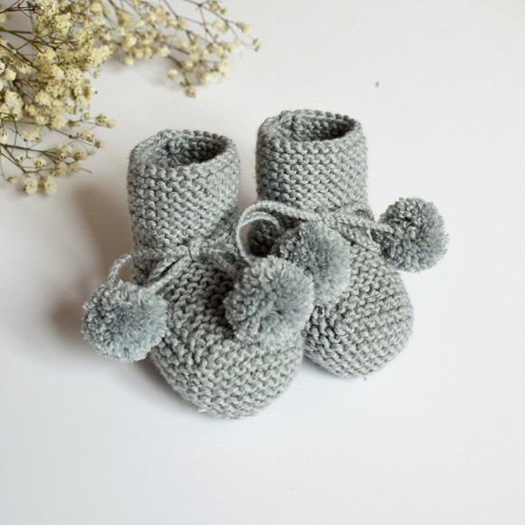 Bootee Agathe Mouse Gray Jacotte Tricote