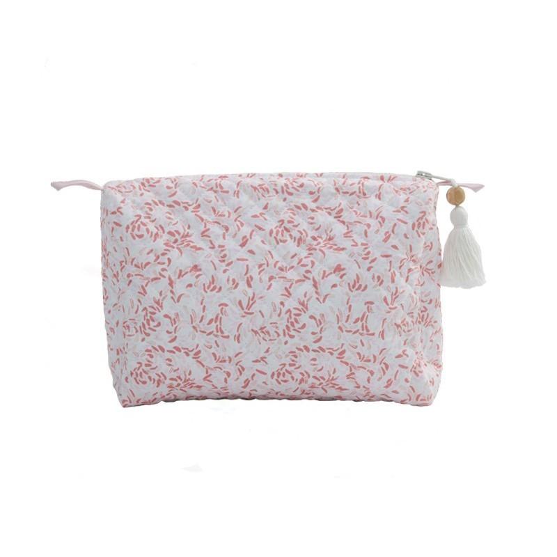 Trousse de toilette feuilles roses Bim Bla Bim Bla