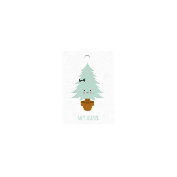 Gift tag Happy December Eef Lillemor