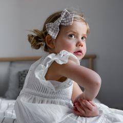 Bandeau avec nœud Florestine beige Little Millie