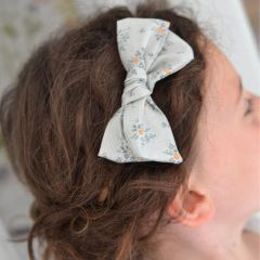 Florestine bow nylon headband green Little Millie