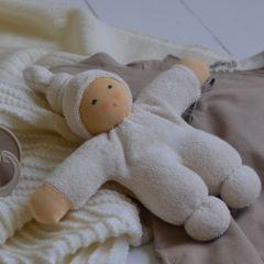 Pimpel doll white Nanchen Natur