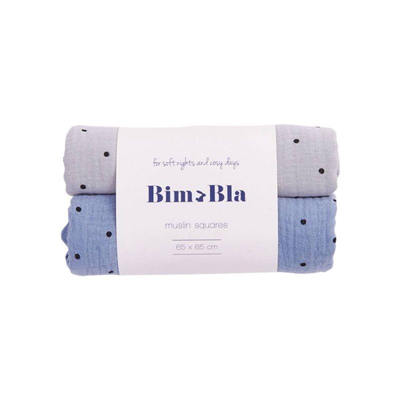 Pack de 2 langes à pois Bim Bla