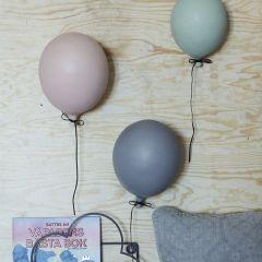 Ballon en céramique bleu ByON