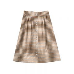 Gingham midi skirt Rylee and Cru