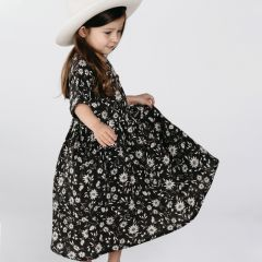 Midnight floral dress girl Rylee and Cru