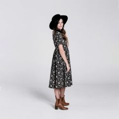 Midnight floral dress Rylee and Cru