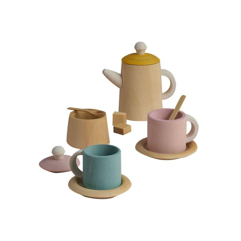 Service à thé pastel en bois Raduga Grëz