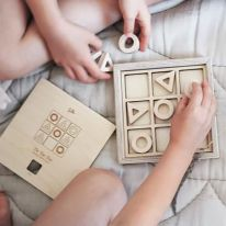 Morpion en bois pour enfants Loullou