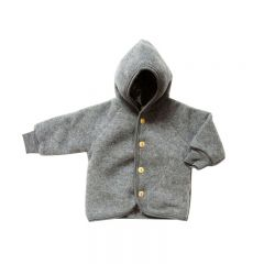 Fleece Wool Jacket Grey Engel Natur