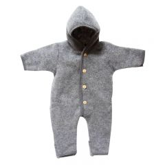 Merino Wool Fleece suit Grey Engel Natur
