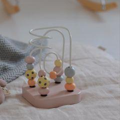 Mini Wooden Maze Pale pink Kid's Concept